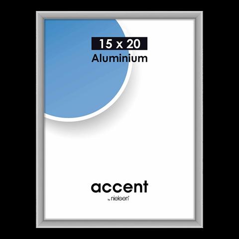 Nielsen Fotolijst 51324 Accent Mat Zilver 15x20 cm