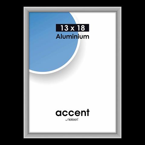 Nielsen Fotolijst 53224 Accent Mat Zilver 13x18 cm