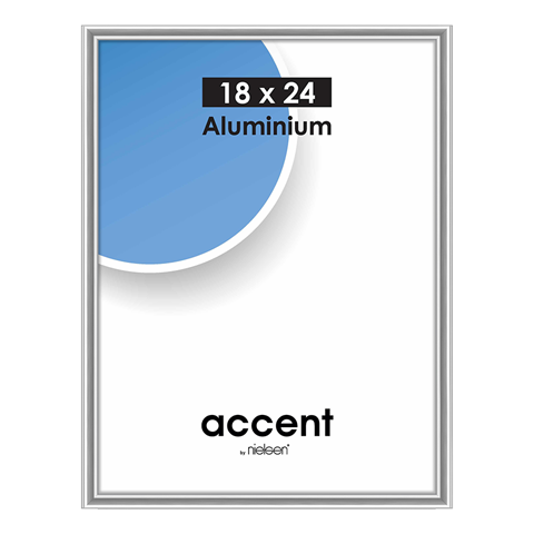 Nielsen Fotolijst 53423 Accent Zilver 18x24 cm