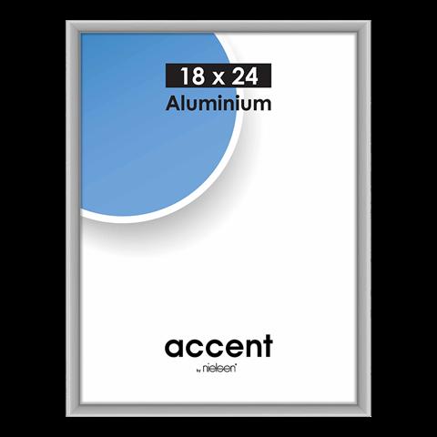 Nielsen Fotolijst 53424 Accent Mat Zilver 18x24 cm