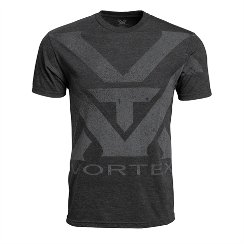 Vortex Charcoal Heather Oversize Logo T-shirt Maat L