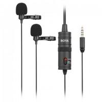 Boya Duo Lavalier Microfoon BY-M1DM voor Smartphone, DSLR, Camcorders en PC