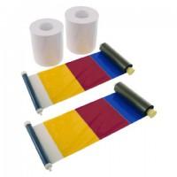 DNP Papier 2 Rol à 400 St. 10x15 Geperforeerd op 10x10 cm voor DS620