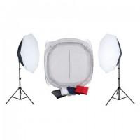 Falcon Eyes Productfoto-Set met 120x120x120 Opnametent en Verlichting 2200W