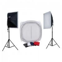 Falcon Eyes Productfoto-Set met 75x75x75 Opnametent en Verlichting 1600W