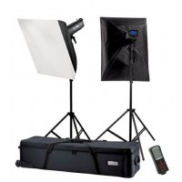 Falcon Eyes Studioflitsset TFK-2400L met LCD Scherm