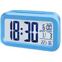 Bresser MyTime Duo LCD-wekker - Blauw