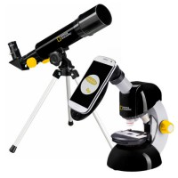 National Geographic Telescoop- en Microscoopset met Smartphone Adapter