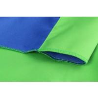 StudioKing Achtergronddoek 2,7x5 m Blauw/Groen