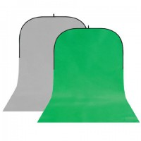 StudioKing Background Board BBT-03-10 Grijs/Groen 400x150 cm