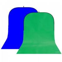 StudioKing Background Board BBT-10-07 Groen/Blauw 400x150 cm