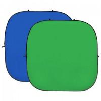 StudioKing Background Board Groen/Blauw 240x240 cm